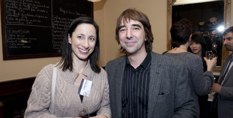 Linda Morra and Jason Camlot at 2011 awards gala