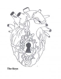 Illustration of a heart with a keyhole