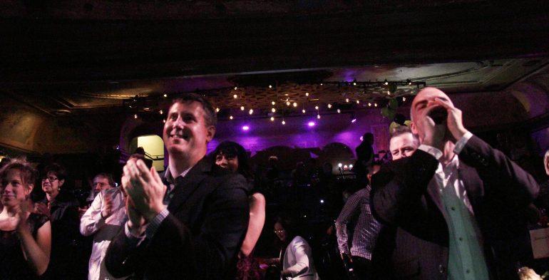 Audience cheering