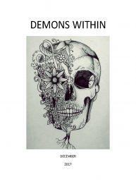 Intricate skull and flower illustration