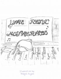 Drawing of rose on a keyboard