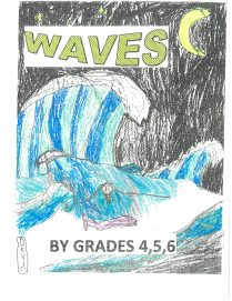 Colour pencil drawing of waves
