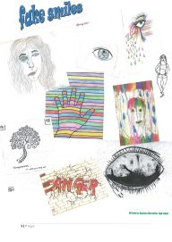 Collage of hand-drawn illustrations